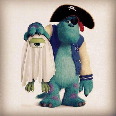 毛毛話:「Happy Ha~llo~ween ψ(`∇´)ψ 」 Happyhalloween 2013 Monstersinc Disney disneylover love instadaily
