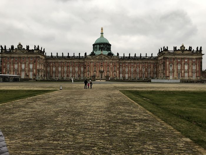 Architecture Building Exterior Built Structure City Cloud - Sky Day Dome Government History One Person Outdoors Palace People Real People Sanssoucipalace Sky Tourism Travel Travel Destinations