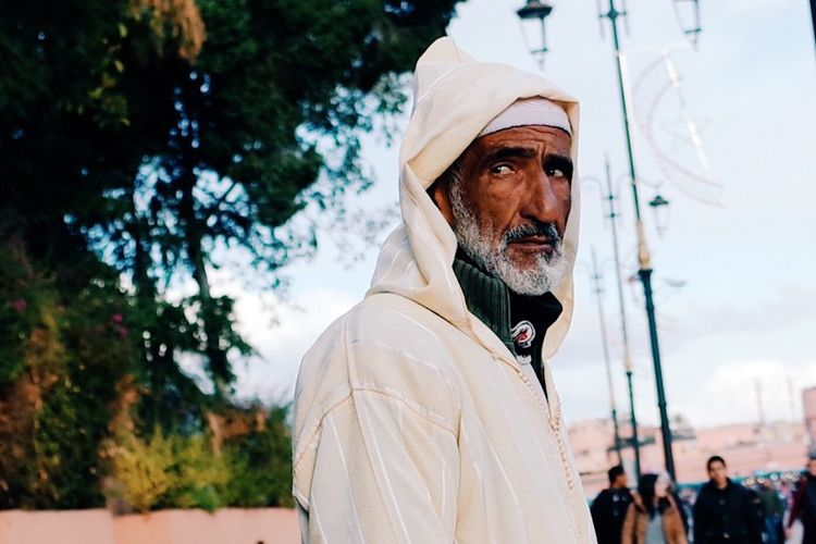 One Man Only Adults Only One Person Adult Real People Men Only Men Portrait Business Finance And Industry People Tree Outdoors Day Human Body Part Morocco Traveling Culture Street Tradition Streetphotography Market Close-up