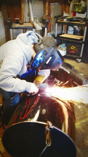 Check This Out Barrel Art Enjoying Life Fire Good Parenting Youth Of Today Plasma Cutting