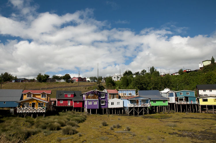 Palafito Houses - Castro - Chile Chile Houses Palafitos Built Structure Castro Chilöe Outdoors