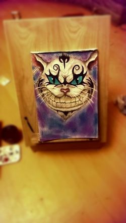 ArtWork Paint Chalk Pastle Cat Smile Colourful At Home Painted Whisker Feline