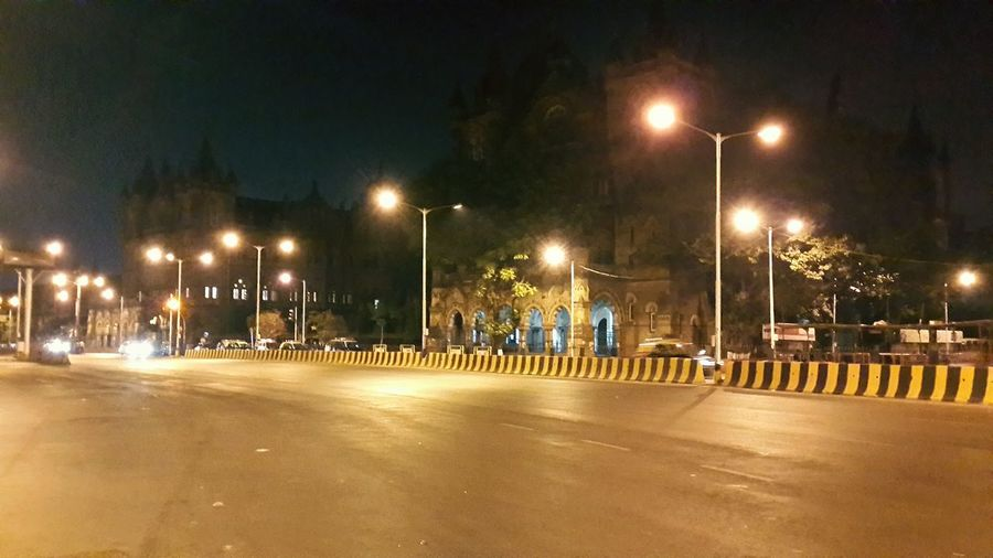 Late Night Empty Roads Bike Riding