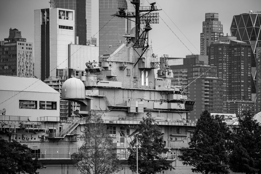 River views of NYC - 2016 Architecture Black And White City Intrepid Modern Nikon D750 No People Outdoors Photographyisthemuse Tall
