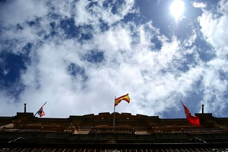 Salamanca Plazamayor Flags In The Wind  Sky Sky And Clouds Spain ✈️🇪🇸 Love ♥