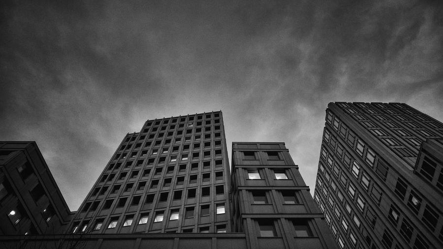 Potsdamer Platz Berlin Architecture Black And White