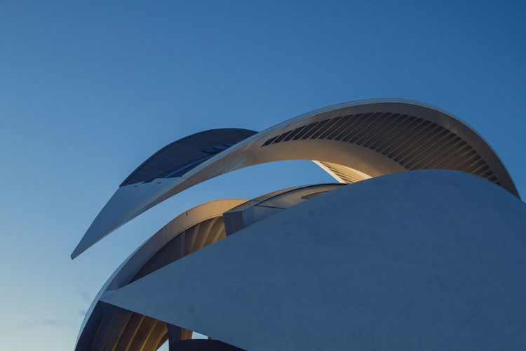 Architecture Calatrava Modern SPAIN Shapes Architecture Blue Building Exterior Built Structure Clear Sky Close-up Day Low Angle View Modern No People Outdoors Sky