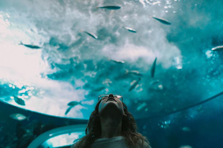 Woman in sea