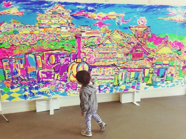 松山城 子供 旅 しましま ボーダー