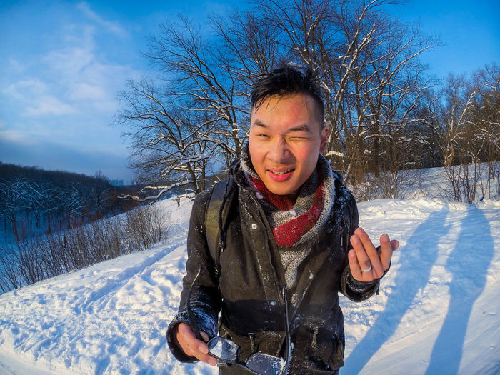 Ice Winter Cold Temperature Coold Day Frends Fun Gopro Happiness Lifestyles Minusdegrees One Person Outdoors Playing Real People Riding Smiling Snow Winter