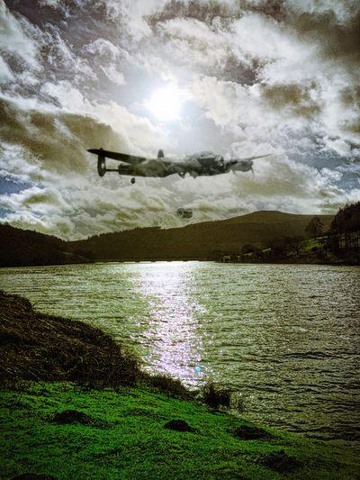 Lady Bower Reservoir Ladybower Reservoir Derbyshire Dam Busters Lancaster Bomber WwII Airplane Blending Showcase: February