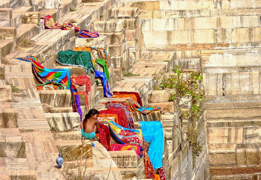 Laundry Day India Rajasthani Chittorgarh Fort Day Multi Colored People Rural Life First Eyeem Photo