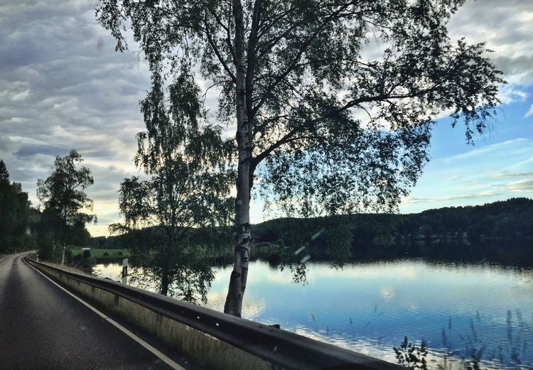 Amazing View Dusk Lake Sweden Countryside Nature Nature_collection Driving Enjoying The View IPhoneography Beautiful Nature