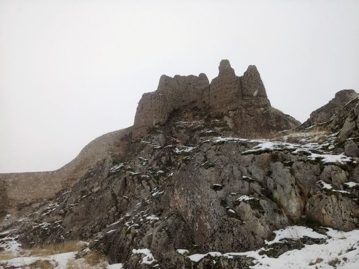 Castle of Van Snow Geology Rock Formation Mountain Rock - Object Physical Geography Nature Winter Day Travel Destinations Topography Landscape