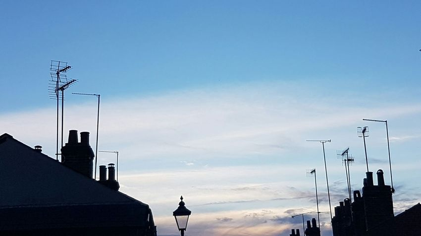 Silhouette Sky No People Outdoors Antenna Ariel Rooftops