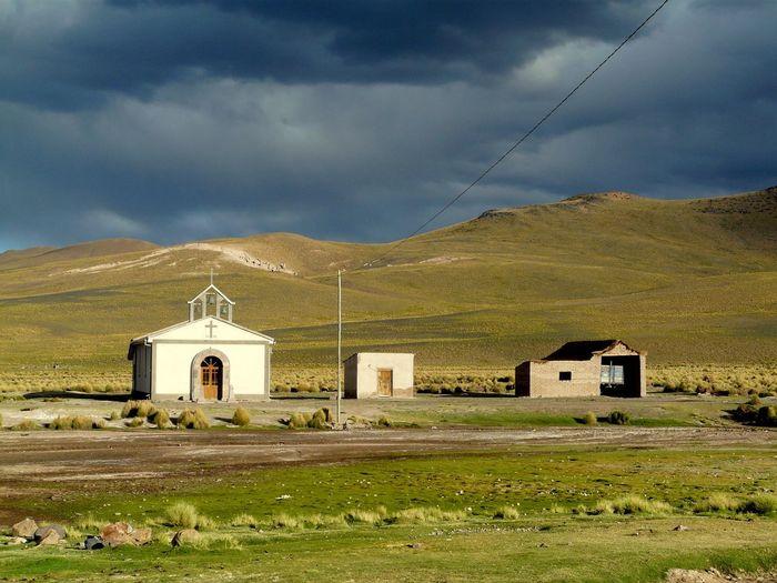 Chapel along the hilly landscape