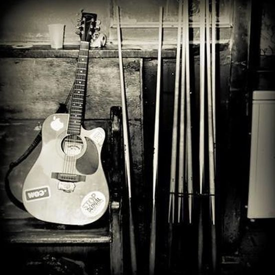 * Web use only (low resolution). Bar Dive Bar Guitar Instruments Music Musician Pool Cue Pool Stick Pooltable Sepia Square