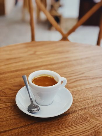 Time for Espresso Coffee Shop Espresso Coffee Time Coffee Cafe Table Drink Food And Drink Coffee Cup Refreshment Saucer Coffee - Drink Close-up Indoors  Focus On Foreground No People Freshness Day