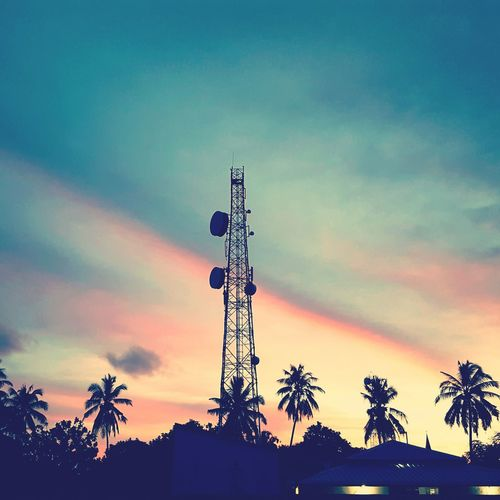 Sunset from inland Sunset Antenna Sky Colorful Sky