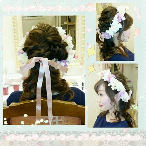 Beauty Itmylife Hairmakeupdiary Makeup ♥ Hairstyle 💇 写メ Long Hair 日本 Mywedding Wedding Photography Selfie ♥ Celebration 花冠🎵