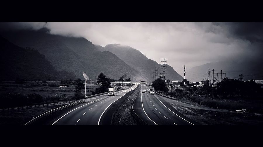 Road Trip Cloudy Outdoors Landscape Monochrome Mexico Outside Traveling Travel Weather Countryside Mountain Landscapes Blackandwhite Roadtrip Road Cars