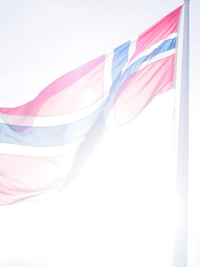 Close-up Day Flag Indoors  Multi Colored No People Norway Oslo Patriotism Pattern Pride Scandinavia Textile White Background