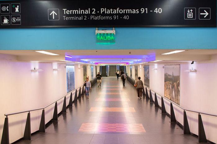 Hall Floor Clean Walk Terminal Station Bus Station Long Corridor Corridor Hall Architecture Illuminated Indoors  Transportation Built Structure