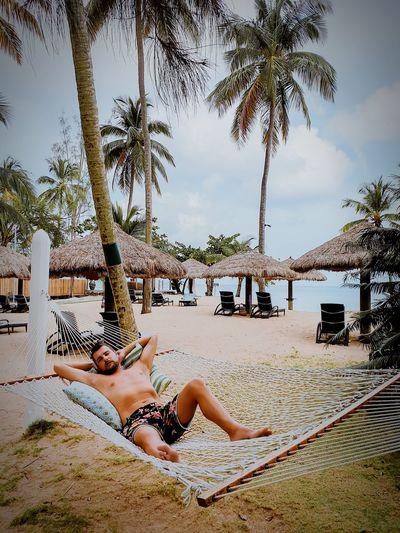 Saint Lucia St Lucia Tree Water Low Section Full Length Sea Beach Sand Relaxation Young Women Summer Lounge Chair Swing Thatched Roof Hammock Parasol Outdoor Play Equipment Sunbathing Beach Towel Playground Jungle Gym Suntan Lotion Slide - Play Equipment Rope Swing Sunshade Monkey Bars Bikini Beach Umbrella Bikini Top