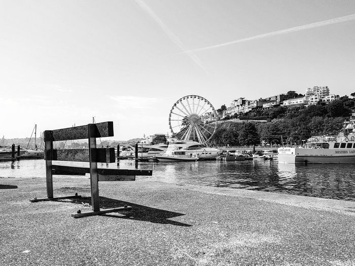 Amusement Park No People Beach Day Water Outdoors Sky Nature B&W Magic EyeEmNewHere Black And White EyeEm Gallery Full Length Best EyeEm Shot