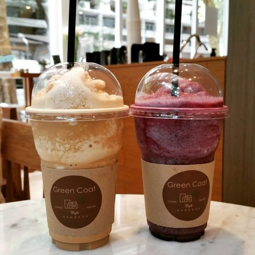 Make a fresh. Coffee frape and Blueberry smooty. Coffee Cafe Coffee And Sweets