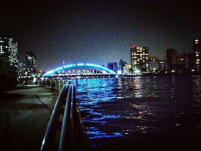 tokyo japan City Cityscape Water Illuminated Urban Skyline Skyscraper Modern Bridge - Man Made Structure Sky Architecture