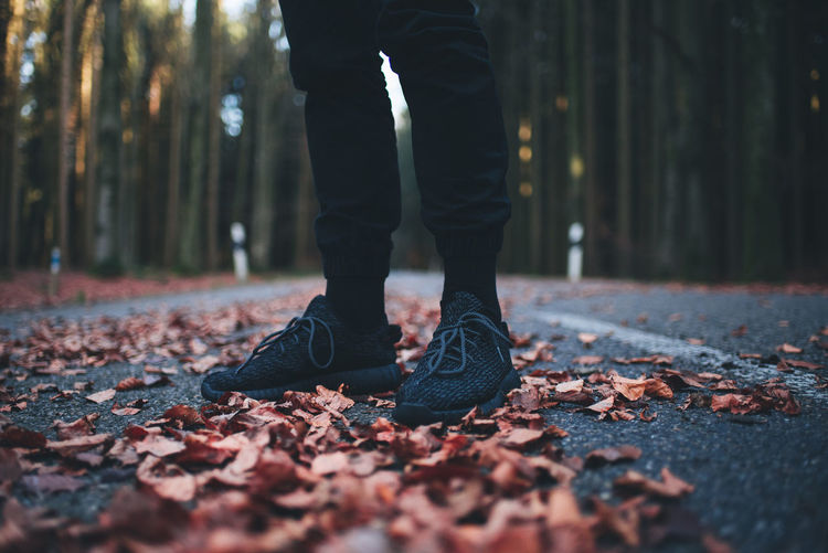 Fall on fire Urban Yeezy Sneakers Nature Photography