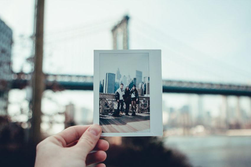 Brooklyn Instantphoto Manhattan Bridge Picture Polaroid