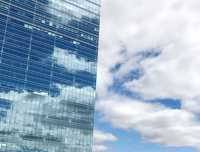 House in the clouds Cloud - Sky Sky Architecture Built Structure Building Exterior Low Angle View Building City Day Blue Office Building Exterior Modern Tall - High No People Skyscraper Pattern Tower Office Outdoors The Architect - 2018 EyeEm Awards