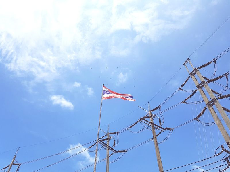 Flag Sky Flying Patriotism Day Outdoors No People Nature Representing