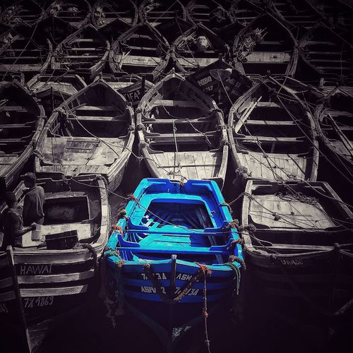Morroco Essaouira Blue Boats Boats And Moorings Harbour View Nautical Vessel Moored Transportation Shimmering Waters Morrocobeauty Essaouira Bay Wonderful Day Blackandwhite Individuality Multiple Layers Multi Colored IPhoneography Water Reflections Fishing Boat Fishing Time Harbour Insights Sunset Silhouettes Blue Color Craftsmanship
