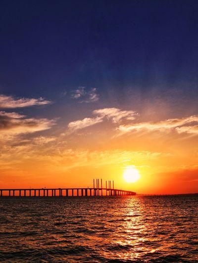 青岛胶州湾跨海大桥 Sunset Sea