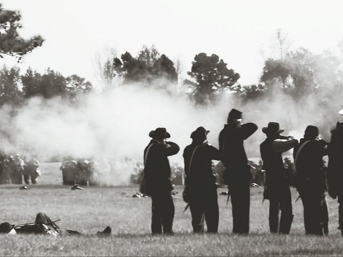Historical reinactors. People Outdoors Men History Through The Lens  Civilwar