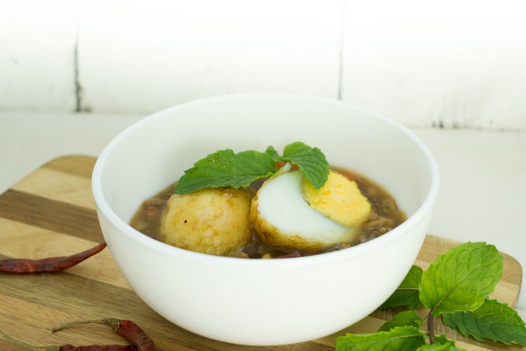 Sweet And Sour Eggs Bowl Day Food Food And Drink Freshness Healthy Eating Indoors  Leaf Table