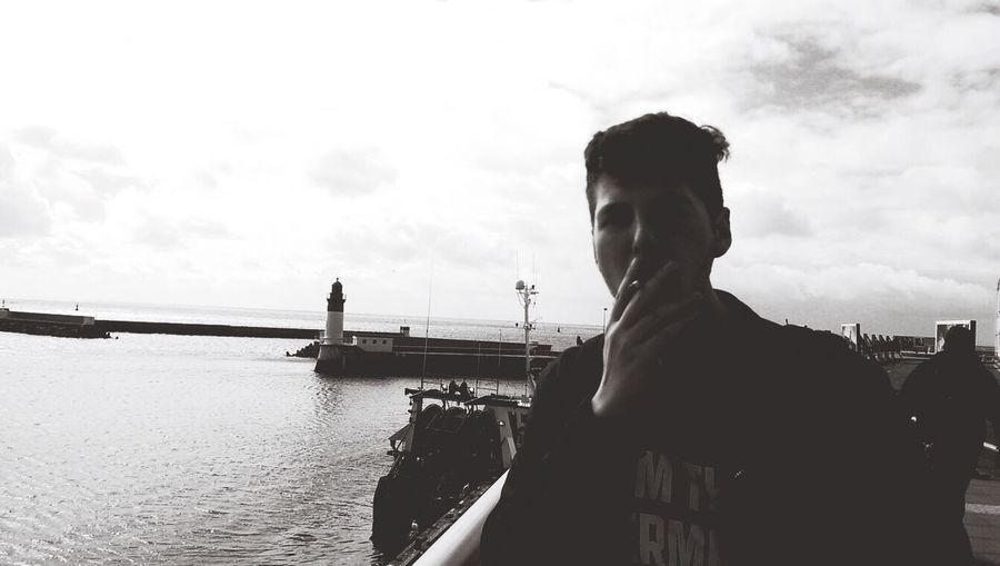 Smoke Boy Travel Traveling France Art Model Modeling Blackandwhite Randomshot Youth Adult Live île De Batz Bretagne Beautiful Mad Me