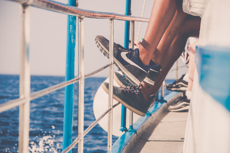 Water Nautical Vessel Real People Sea One Person Mode Of Transportation Day Human Body Part Railing Lifestyles Transportation Low Section Midsection Leisure Activity Nature Outdoors Travel Standing Hand EyeEm Travel Photography EyeEm Snap Shot Enjoying Life