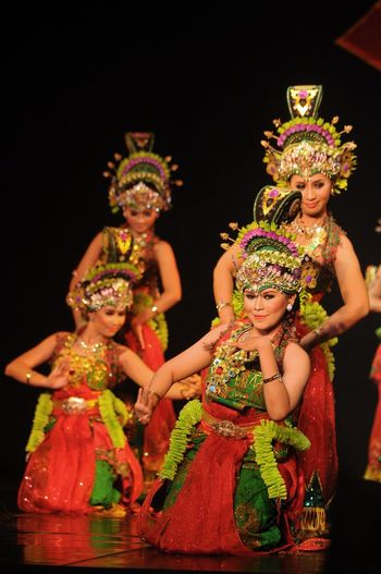 Celebration Performance Cultures Dancing Arts Culture And Entertainment Traditional Festival People Performing Arts Event Indoors  Tradition INDONESIA Banyuwangi Jawa Timur Art Make-up Traditional Clothing Colors Women Beauty Only Women Nikon