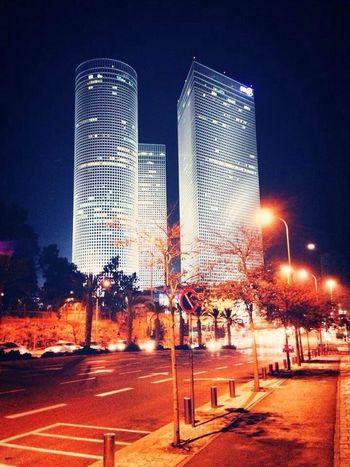 Azrieli Center Building at Night Cities At Night