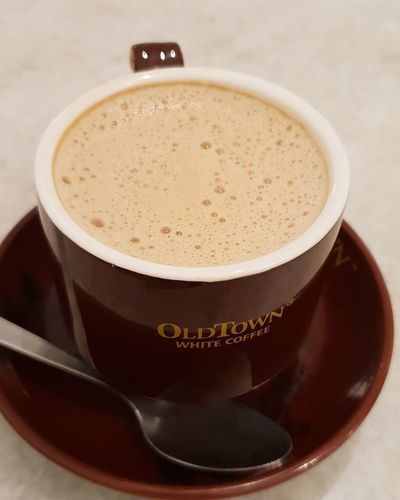 OLDTOWN WHITE COFEE OldTownWhiteCoffee Frothy Drink Drink Drinking Glass Coffee - Drink Milk White Background Cappuccino Close-up Sweet Food Food And Drink Mocha Caffeine Hot Drink Roasted Coffee Bean Coffee Crop