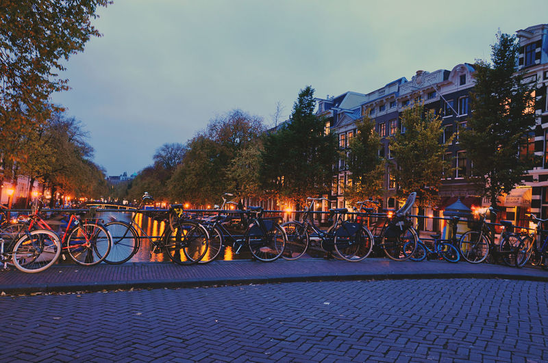 Amsterdam Bikes Canals Famous Place Capital Cities  Streetscene