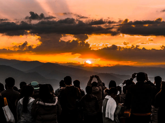 Waiting for sunrise, waiting time for take photo. Landscape Happy To See It Most Beautiful Place On Earth❤ Tourist Destination Travel Destination Sunrise Looking At View Outdoors Togetherness Rear View Scenics - Nature Leisure Activity Standing Adult Women Nature Beauty In Nature Men Cloud - Sky Large Group Of People Real People Crowd Orange Color Sky Group Of People