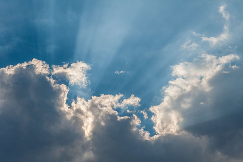 Backgrounds Beauty In Nature Blue Cloud - Sky Cloudscape Day Dramatic Sky Environment Heaven Idyllic Low Angle View Meteorology Nature No People Outdoors Scenics - Nature Sky Softness Sunlight Tranquil Scene Tranquility