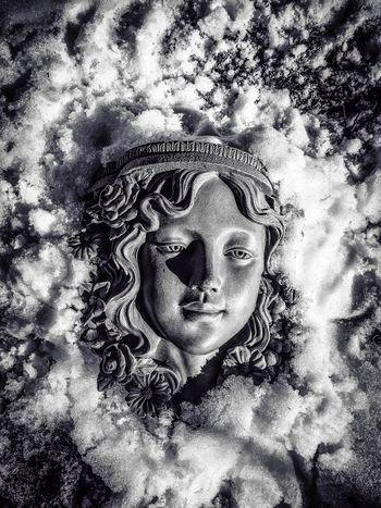 Face in Snow Snow ❄ Ice Monochrome Blackandwhite Black And White Black & White Black&white Snowangel