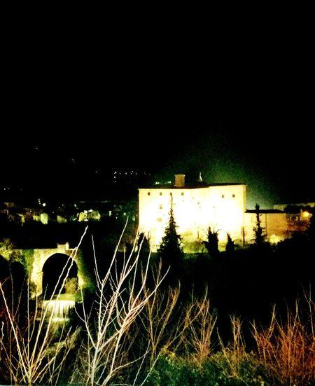 Fence Night No People Built Structure Illuminated Sky Nature Outdoors Architecture Carcere Fortemalatesta Ascoli Piceno Italy🇮🇹 Travertino White