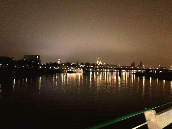 Dresden OnTheWater Ship Xmasparty Water Shiptour Frauenkirche Lights